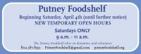 Putney Foodshelf to Change Hours of Operation