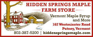 advertisement for Hidden Springs Maple Farm - 802-387-5200